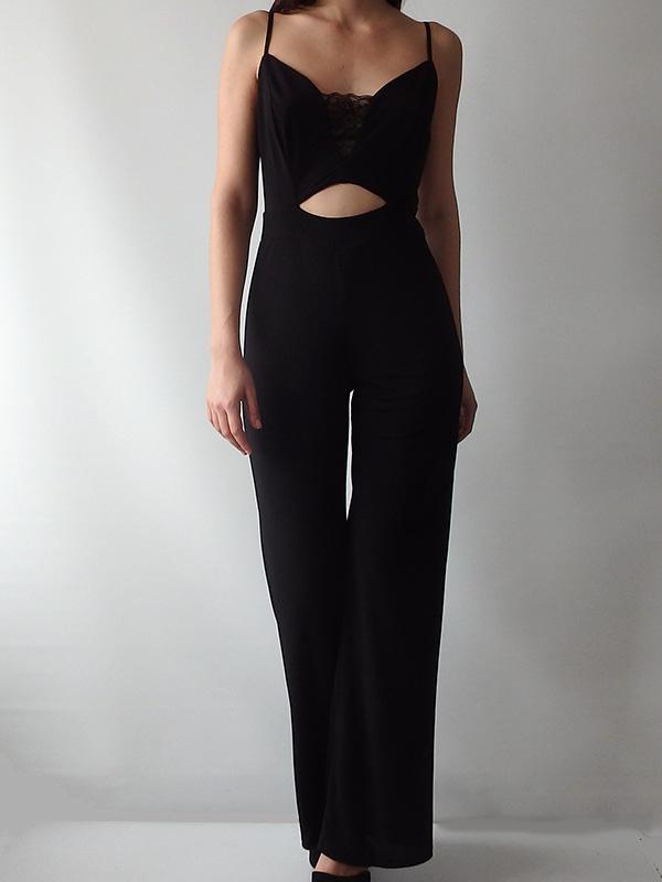 624f2619934 Όλοσωμες φόρμες/σορτς : Ολόσωμη φόρμα με δαντέλα & ανοιχτή πλάτη ...